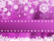 Purple christmas with snowflake. EPS 8