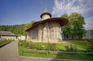 Voronet monastery of northern Romania, Moldavia. UNESCO heritage
