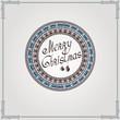 christmas vintage circle background