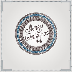 christmas vintage circle background