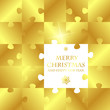 golden christmas puzzle card