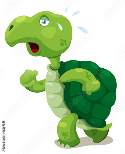 llustration of turtle walking Vector