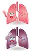 肺のキャラクターイラスト