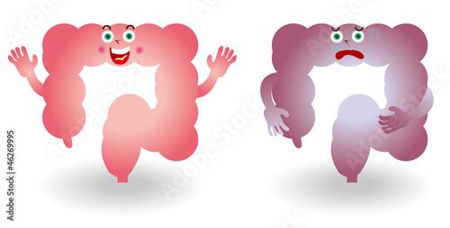 大腸のキャラクターイラスト