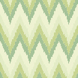 Zigzag pattern in green color. Seamless texture. poster
