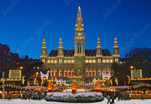 Deurstickers Boodschappen Wiener Weihnachtsmarkt