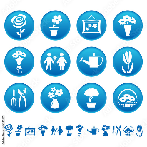 Flowers and gardening icons