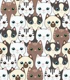 Fototapety Funny cartoon cats. Seamless pattern