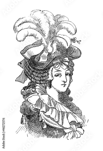 Hair Fashion 1 - 18th century