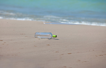 Bottle at the beach