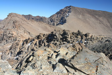 view of Mulhacen from Veleta - Sierra Nevada