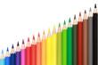 Diagramm aus Buntstiften