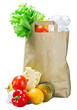 food in a paper bag