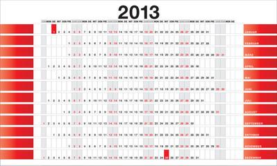Planner 2013 red - DE