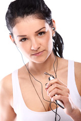 Young and attractive girl with headphones