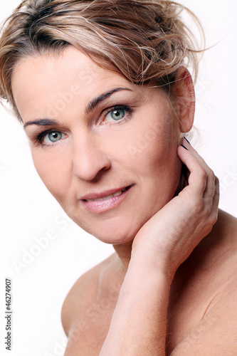 Portrait of beautiful mid aged woman