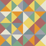 Seamless triangles and rhombus pattern poster