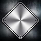 rhombus metal plate poster