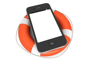 Mobile Phone with lifebuoy
