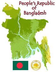 Bangladesh national emblem map symbol motto