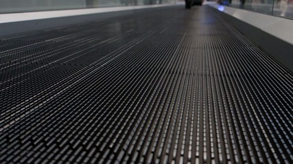 flat escalator - airport treadmill