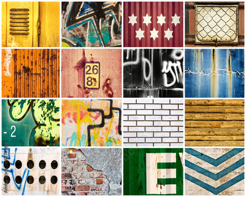 Deurstickers Graffiti collage Backgrounds