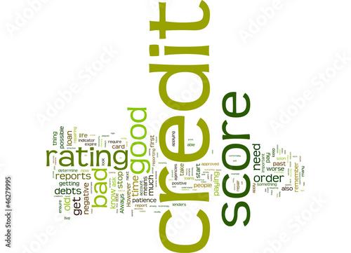 Rebuilding your credit score