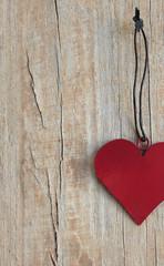 Herz rot Hochformat