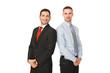 Lächelnde Arbeitskollegen