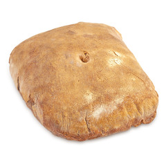 Bread on white background