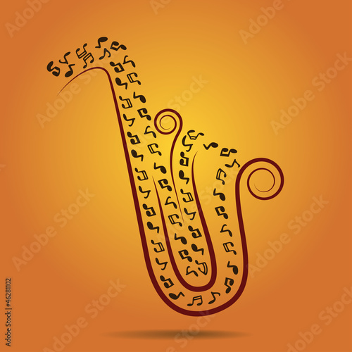 warm jazz background, vector