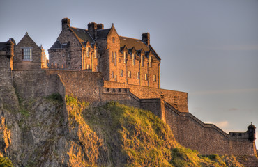 Edinburgh Houses in Sunset