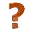 Orange question mark sign