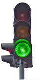 traffic lights isolate