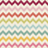 Seamless color chevron pattern on linen texture poster