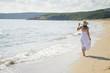 Peaceful walk along the coast