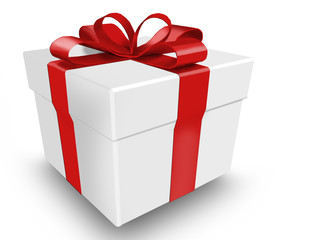 Gift with ribbon and bow