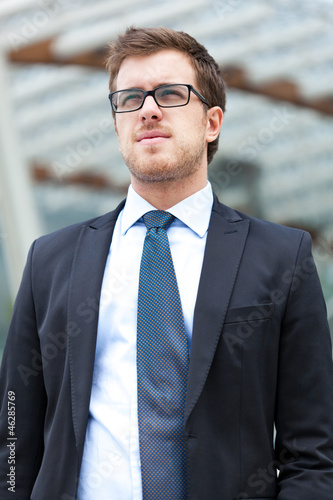 Businessman walking outdoor
