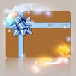 Gift Card Bokeh Karton