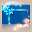 Gift Card Bokeh Blue