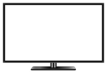 Flat widescreen TV LCD realistic vector illustration