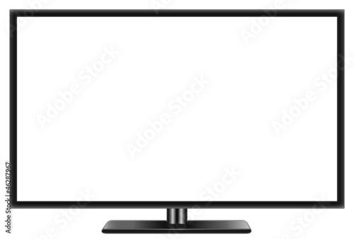 Płaski telewizor panoramiczny LCD lcd realistyczny wektorowego
