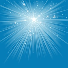 Light Rays and Stars - Abstract Background