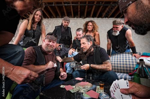 Aggressive Biker Gang Gamblers