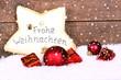 Leinwandbild Motiv Frohe Weihnachten