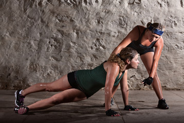 Push-ups During Boot Camp Workout