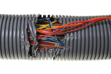 Damage to the computer network and power supply
