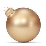 Fototapety gold christmas ball