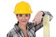 A female carpenter.