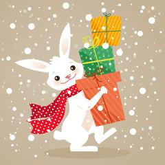 Christmas gifts, vector illustration